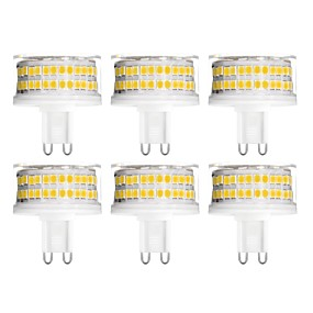 abordables Luces LED de Doble Pin-YWXLIGHT® 6pcs 9 W Luces LED de Doble Pin 900 lm G9 T 88 Cuentas LED SMD 2835 Regulable Blanco Cálido Blanco Fresco Blanco Natural 200-240 V
