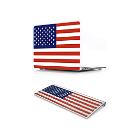"""billige Mac-etuier, Mac-tasker og Mac-covers-MacBook Case with Protectors Flag PVC for MacBook 12'' / Ny MacBook Pro 15"""" / New MacBook Air 13"""" 2018"""