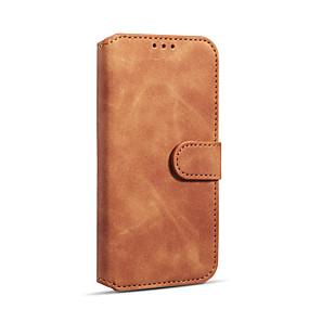 abordables Coques d'iPhone-DG.MING Coque Pour Apple iPhone XR Portefeuille / Porte Carte / Antichoc Coque Intégrale Couleur Pleine Dur faux cuir / TPU pour iPhone XR
