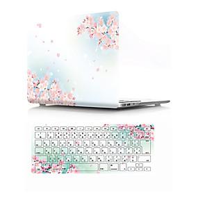 """billige Mac-etuier, Mac-tasker og Mac-covers-MacBook Case with Protectors Blomst PVC for MacBook Air 13-tommer / Ny MacBook Pro 15"""" / New MacBook Air 13"""" 2018"""