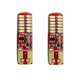 billige Nummerpladelys-2pcs T10 / W5W Bil Elpærer 2 W SMD 3014 250 lm 24 LED Nummerpladelys / Blinklys / Baglygte Til Universel Alle år