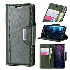 Χαμηλού Κόστους Θήκες / Καλύμματα Galaxy S Series-Nillkin tok Για Samsung Galaxy Galaxy S10 / Galaxy S10 Plus Πορτοφόλι / Θήκη καρτών / Ανθεκτική σε πτώσεις Πλήρης Θήκη Μονόχρωμο Σκληρή PU δέρμα για S9 / S9 Plus / Galaxy S10