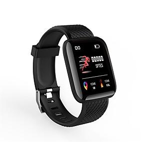 baratos Ofertas Diárias-Indear ID116plus Masculino Pulseira inteligente Android iOS Bluetooth Smart Esportivo Impermeável Monitor de Batimento Cardíaco Medição de Pressão Sanguínea Cronómetro Podômetro Aviso de Chamada