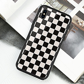 olcso iPhone tokok-Case Kompatibilitás Apple iPhone X / iPhone XS Minta Héjtok Mértani formák Kemény Akril mert iPhone XS / iPhone XR / iPhone XS Max