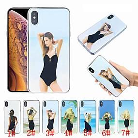 tanie Etui do iPhone-Skrzynka dla apple iphone xr xs xsmax 8 8 plus 7 7 plus przepływający płyn projekt mody sexy lady miękkie tpu back cover case