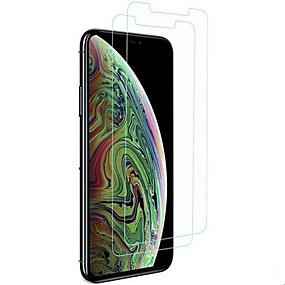 voordelige iPhone XR screenprotectors-Screenprotector voor Apple iPhone XS / iPhone XR / iPhone XS Max Gehard Glas 2 pcts Voorkant screenprotector High-Definition (HD) / 9H-hardheid / 2.5D gebogen rand