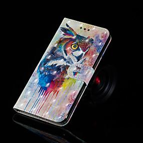 voordelige Galaxy J3 Hoesjes / covers-hoesje Voor Samsung Galaxy J7 Prime / J7 (2017) / J7 (2016) Portemonnee / Kaarthouder / met standaard Volledig hoesje Uil Hard PU-nahka