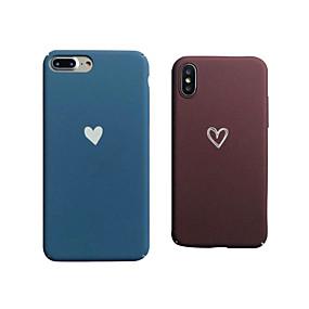 levne iPhone pouzdra-Carcasă Pro Apple iPhone XR / iPhone XS Max Matné Zadní kryt Srdce Pevné PC pro iPhone XS / iPhone XR / iPhone XS Max
