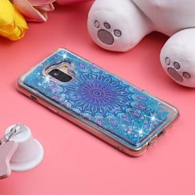 voordelige Galaxy J7(2017) Hoesjes / covers-hoesje Voor Samsung Galaxy J7 (2017) / J7 (2016) / J6 (2018) Schokbestendig / Stromende vloeistof / Patroon Achterkant Mandala / Glitterglans Zacht TPU