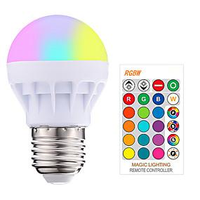 billige LED-smartpærer-1pc 3 W Smart LED-lampe 200-250 lm E26 / E27 1 LED Perler SMD 5050 Smart Dæmpbar Fjernstyret RGBW 85-265 V / RoHs