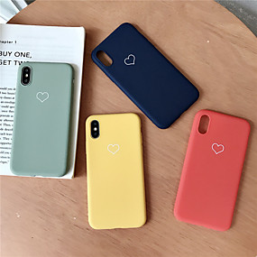 olcso iPhone tokok-Case Kompatibilitás Apple iPhone XR / iPhone XS Max Minta Fekete tok Szív Puha TPU mert iPhone XS / iPhone XR / iPhone XS Max