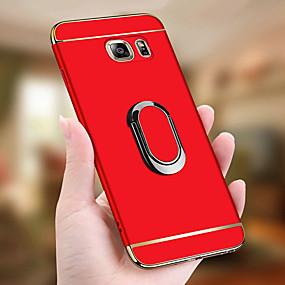 voordelige Galaxy S7 Hoesjes / covers-hoesje Voor Samsung Galaxy S9 / S9 Plus / S8 Plus Schokbestendig / Beplating / Ringhouder Volledig hoesje Effen Hard PC