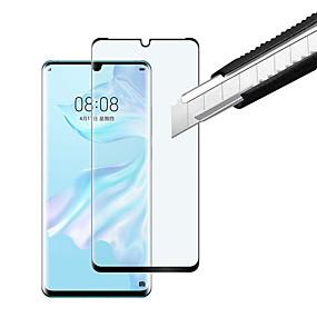 Недорогие Защитные плёнки для экрана-Защитная плёнка для экрана для Huawei Huawei P30 Pro Закаленное стекло 1 ед. Защитная пленка на всё устройство HD / Уровень защиты 9H / 3D закругленные углы