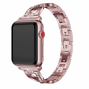 billige Apple-tilbehør-Urrem for Apple Watch Series 4/3/2/1 Apple Smykkedesign Metal Håndledsrem
