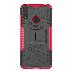 cheap Featured-Case For Huawei Huawei Y6 (2019) / Huawei Y7 Pro (2019) Shockproof / with Stand Back Cover Armor Hard PC for Huawei P Smart 2019 / Huawei Y9 (2018)(Enjoy 8 Plus) / Huawei Y7 Pro(2019)