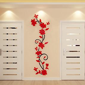 halpa Sisustustarrat-Koriste-seinätarrat - 3D-seinätarrat Kukkakuvio / Kasvitiede Sisällä