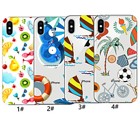 abordables Fundas para iPhone X-estuche para apple iphone xr / iphone xs patrón máximo contraportada tpu suave para iphone x x 8 8plus 7 7plus 6 6plus 6s 6s plus