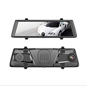 voordelige Auto DVR's-Factory OEM V6 1080p Auto DVR 150 graden Wijde hoek 10 inch(es) IPS Dash Cam met WIFI / GPS / Afstandsbediening Autorecorder