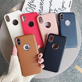 levne iPhone pouzdra-pouzdro pro Apple iphone xr / iphone xs max matné zadní kryt pevné barevné měkké pu pro iphone x xs 8 8plus 7 7 plus 6 6s 6plus 6s plus