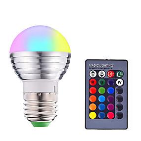levne LED Smart žárovky-1ks 3 W LED chytré žárovky 200-250 lm E14 E26 / E27 1 LED korálky SMD 5050 Smart Stmívatelné Dálkové ovládání RGBW 85-265 V