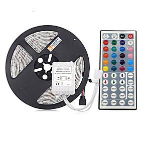 ieftine Benzi Lumină LED-5m benzi cu leduri flexibile / seturi de lumini / lumini cu bandă rgb 300 leduri 5050 smd 10mm rgb impermeabil / tăietoare / conectabile 12 v 1 set / ip65 / autoadeziv