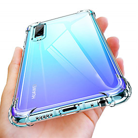economico Custodie per cellulari-Custodia Per Huawei Huawei P30 / Huawei P30 Pro Resistente agli urti / Transparente Integrale Tinta unita Morbido TPU per Huawei P20 / Huawei P20 Pro / Huawei P20 lite
