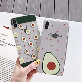 olcso iPhone tokok-Apple iphone xs max / iphone x minta / áttetsző hátsó fedél élelmiszer puha tpu iPhone 6 / iphone 6 plusz / iphone 6s / 6s plusz / 7/8/7 plusz / 8 plusz / x / xs / xr / xs max