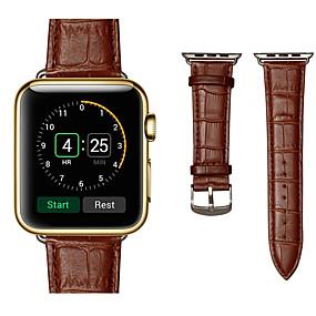povoljno Apple oprema-Pogledajte Band za Apple Watch Series 4/3/2/1 Apple Sportski remen Prava koža Traka za ruku