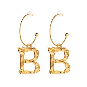 billige Smykker & Ure-Dame Dråbeøreringe Store øreringe 18K Guldbelagt Øreringe Bogstaver Simple Trendy Mode Smykker Guld Til Graduation Gave Daglig Festival 1 Par