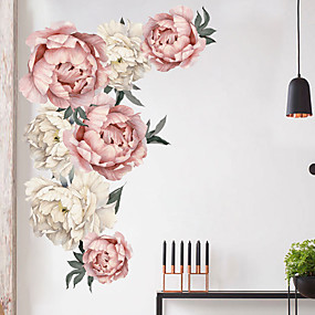 cheap Decoration Stickers-Beautiful Flowers Wall Stickers - Plane Wall Stickers Transportation / Landscape Study Room / Office / Dining Room / Kitchen