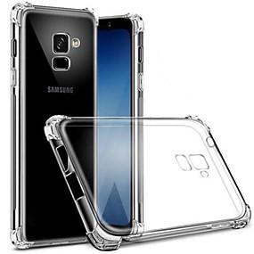 olcso Galaxy S tokok-Case Kompatibilitás Samsung Galaxy S8 Plus / S8 Porálló / Átlátszó Fekete tok Átlátszó Puha TPU mert S9 / S9 Plus / S8 Plus