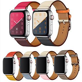 povoljno Apple oprema-Pogledajte Band za Apple Watch Series 4/3/2/1 Apple Kožni remen Prava koža Traka za ruku