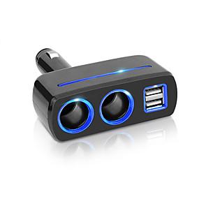 זול מטענים לרכב-מכונית סיגריה שקע מפצל תקע USB מטען USB