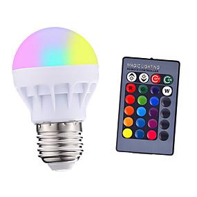 levne LED Smart žárovky-1ks 3 w 200-250 lm e26 / e27 led chytré žárovky 1 led korálky smd 5050 dálkově ovládaná strana dekorativní rgbw 85-265 v