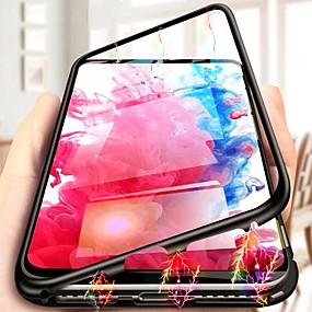 halpa Galaxy S -sarjan kotelot / kuoret-Etui Käyttötarkoitus Samsung Galaxy S9 Plus / S9 / S8 Plus Iskunkestävä / Läpinäkyvä Takakuori Läpinäkyvä Kova Karkaistu lasi / Aluminium varten S9 / S9 Plus / S8 Plus
