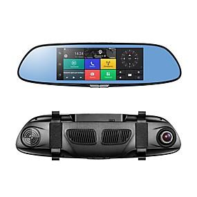 voordelige Auto DVR's-PHISUNG C08 1080p Full HD / met achteruitrijcamera / Start automatische opname Auto DVR 140 graden Wijde hoek CMOS 7 inch(es) IPS / LED Dash Cam met GPS / G-Sensor / Parkeermodus Neen Autorecorder