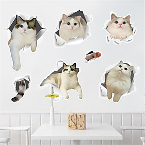 cheap Decoration Stickers-Decorative Wall Stickers - Plane Wall Stickers Animals Indoor / Kids Room