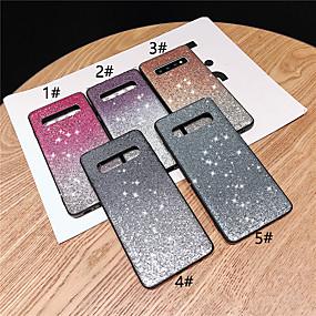 voordelige Galaxy S7 Hoesjes / covers-hoesje Voor Samsung Galaxy S9 / S9 Plus / S8 Plus Strass / Glitterglans Achterkant Bloem / Kleurgradatie Hard TPU