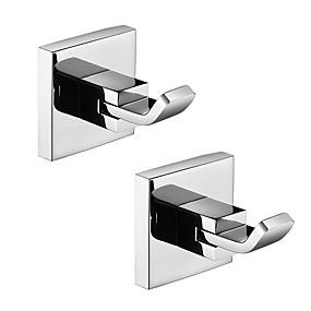 povoljno Gadgeti za kupaonicu-Kuka za ogrtač New Design / Kreativan Suvremena / Moderna Nehrđajući čelik / Nehrđajući čelik / željezo / Metal 2pcs - Kupaonica Zidne slavine
