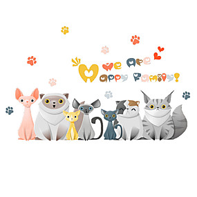 cheap Decoration Stickers-Decorative Wall Stickers - Plane Wall Stickers Animals Bedroom / Indoor