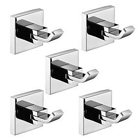 povoljno Gadgeti za kupaonicu-Kuka za ogrtač New Design / Kreativan Suvremena / Moderna Tikovina / Nehrđajući čelik / Metal 5pcs - Kupaonica Zidne slavine