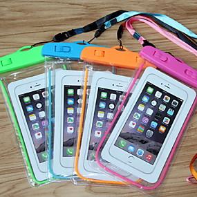 olcso iPhone tokok-Case Kompatibilitás Univerzális Univerzalno Foszforeszkáló / Vízálló Vízálló erszény Egyszínű Puha PVC mert Univerzalno