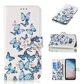 voordelige Galaxy S7 Hoesjes / covers-hoesje Voor Samsung Galaxy S9 / S9 Plus / S8 Plus Portemonnee / Kaarthouder / met standaard Volledig hoesje Vlinder Hard PU-nahka