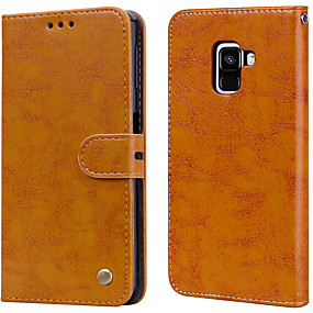 cheap Samsung Accessories-Case For Samsung Galaxy A8(2018) Palace flower PU Leather with Card Slot Flip up and down  For Galaxy A8(2018)