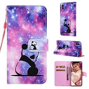 levne iPhone pouzdra-Carcasă Pro Apple iPhone XR / iPhone XS Max Peněženka / Pouzdro na karty / se stojánkem Celý kryt Panda Pevné PU kůže pro iPhone XS / iPhone XR / iPhone XS Max