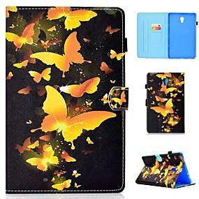 voordelige Galaxy Tab E 9.6 Hoesjes / covers-hoesje Voor Samsung Galaxy Tab 4 10.1 / Tab S4 10.5 (2018) / Tab A2 10.5(2018) T595 T590 Kaarthouder / Schokbestendig / met standaard Volledig hoesje Vlinder Hard PU-nahka