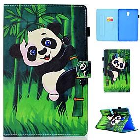 voordelige Galaxy Tab E 9.6 Hoesjes / covers-hoesje Voor Samsung Galaxy Tab 4 10.1 / Tab S4 10.5 (2018) / Tab A2 10.5(2018) T595 T590 Kaarthouder / Schokbestendig / met standaard Volledig hoesje Panda Hard PU-nahka