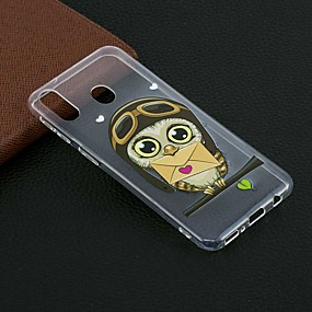cheap Samsung Accessories-Case For Samsung Galaxy M20(2019) / Galaxy M30(2019) Pattern Back Cover Envelope Owl Soft TPU for Galaxy M10(2019)