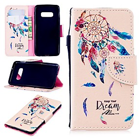 voordelige Galaxy S7 Hoesjes / covers-hoesje Voor Samsung Galaxy S9 / S9 Plus / S8 Plus Portemonnee / Kaarthouder / Schokbestendig Volledig hoesje Woord / tekst Hard PU-nahka