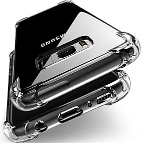 voordelige Galaxy J5 Hoesjes / covers-hoesje Voor Samsung Galaxy J7 (2017) / J7 / J5 (2017) Schokbestendig / Stofbestendig Achterkant Transparant Zacht TPU